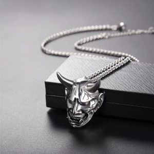New Stainless Steel Gothic Evil Skull Necklace